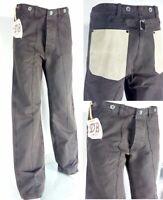 Herren Jeans mit Ledertaschen Donnie Brasco Italien braun size 33 L34 UVP 159