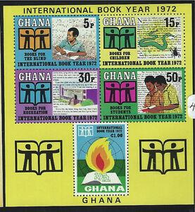 Ghana SC44 Souv,Sht. BooksOfTheYear-Emblem-BooksForChildren MNH 1972