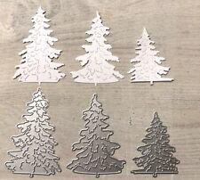 Stanzschablone/ Cutting dies 3 Tannenbäume Tannen xmas Weihnachten