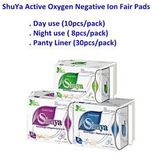 10 Packs Organic Cotton Anion Sanitary Napkin Day Use and Nigh Use, Panty Liners