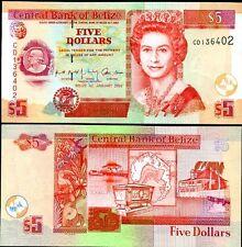 BELIZE 5 DOLLARS 1-1-2002 P 61 UNC
