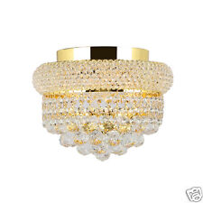French Empire Primo 4 Light 12 in GOLD Finish Crystal Flush Mount Ceiling Light