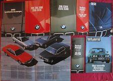 BMW tout modèles 1981-1983 : 6 catalogues et 2 nuanciers : 728i/732i/735i/745i
