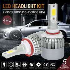 9005 Hb3/H10+9006 Hb4 Cree Led Headlight Kit 240W 6000K High Low Beam Light Bulb
