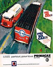 PUBLICITE ADVERTISING   104  1965  PRIMAGAZ  gaz   butane propane