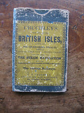 1838 cruchley mappa Inghilterra Galles Scozia COFANETTO VECCHIO ANTICO isole britanniche