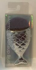 Duos Silver Color Fish Shape Mermaid Kabuki Powder Makeup Cosmetic Brush