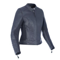 Oxford Beckley Womens Ladies Leather Motorcycle Motorbike Jacket Black