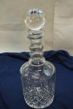VINTAGE BACCARAT CRYSTAL LIQUOR DECANTER STOPPER SIGNED CUT GLASS FRANCE 12.5in