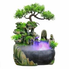Rockery Fountain Flowing Water Resin Home Decorations Atomizers Foggy Mini Ponds