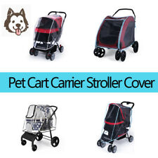 Foldable Travel Outdoor Cat Dog Cart Carrier Pet Stroller Rain Cover Waterproof