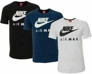 Nike Air max T Shirt Gym Football Sports Training Crew Neck 100% Cotton