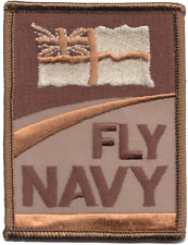 'fly Navy' Royal Navy RN Fleet Air Arm FAA Logo Mod Embroidered Patch