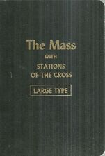 The Mass with Stations of the Cross Large Type Catholic 1957