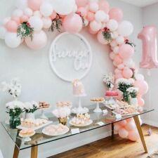 3 Metre DIY Pastel Pink N White Balloon Garland Kit-Party Decorations-Birthday's