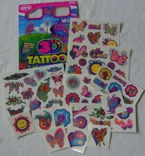 NUEVO 50+ 3d tatuajes con 3d Gafas Rosa Mariposas emoticones etc Savvi 1