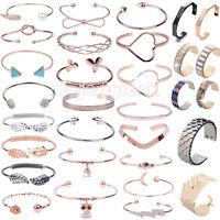 Femme Strass manchette Bracelet Bijoux fantaisie Bangle Or Chaîne Mode Cristal