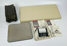 Vintage Tandy Computer Accessories & Manual Lot - mouse pad disk keyboard cover