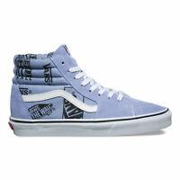 Vans Sk8 Hi (Logo Mix) Lavender Lustre Black Skate Shoes Womens Size 8.5