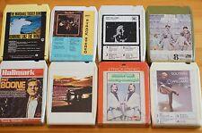 Vintage 8 Track 8 cartuchos de diversos mezclados todos en muy buena condición pedido Gran Selección ST3