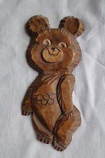 Misha Mascot Bear Manually made of wood 1980 Olympics Moscow Russia Soviet Union