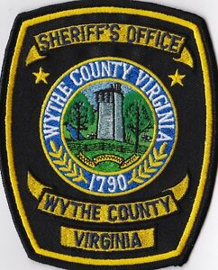 Wythe County Sheriffs Office Police Patch Virginia VA