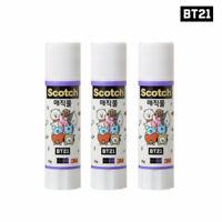 BTS BT21 Official Authentic Goods Scotch Magic Glue 3ea SET + Tracking Number