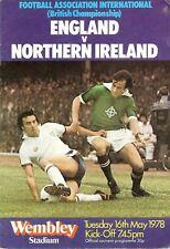 England v Northern Ireland - British Championship - 1978