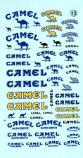 ancien decals decalcomanie divers dessin sur camel 1/43