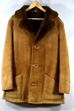 "VTG Homestead ""Wool -N-Suede"" Shearling Leather Men's Leather Ranch Coat- (sz42)"