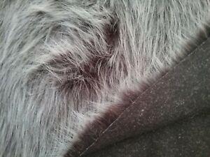 Fur long pile  dark brown with light tips