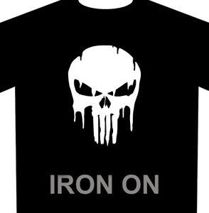 Punisher Skull Drip Iron-On - Heat Transfer Vinyl HTV