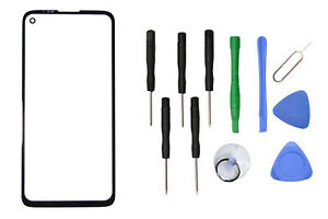 Front Outer Touch Screen Glass Replacement For Motorola Moto G8 Power +Tools