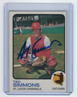 1973 CARDINALS Ted Simmons signed card Topps #85 AUTO Autograhed St. Louis HOF