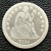 1840 Seated Liberty Dime 10c Rare Date High Grade #13345