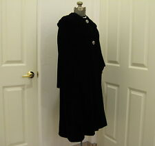 CIRCA 1960s STUNNING WOMENS VELVET COAT SZ 5/6 by JELLEFF WASHINGTON DC