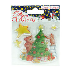 Helz Cuppleditch The Night Before Christmas Tree Clear Stamp for cards & crafts