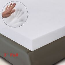 "2"" Full Size Memory Foam Mattress Pad, Bed Topper 75""x54""x2"" New"