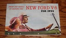 1934 Ford V-8 Car Full Line Sales Brochure 34 Victoria Roadster Coupe Sedan