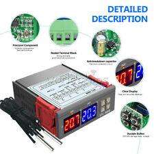 Ac 110v 220v Intelligent Dual Display Temperature And Humidity Controller Probe
