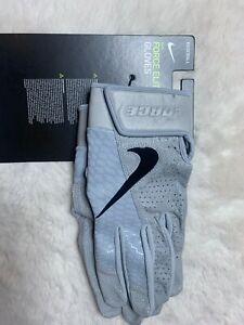 Large Nike Force Elite Batting Gloves Gray PGB644-088 NWT $65
