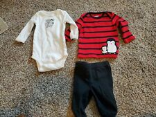 Carter's Size Newborn Baby Boy Outfit Set pants and shirts
