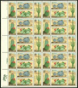 Desert Cactus Plants Sheet of 40 - 20 Cent Postage Stamps 1945a - Stuart Katz