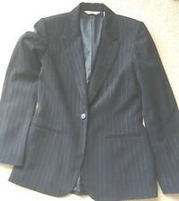 Next Ladies Jacket Size 10 Lined Black Pin Stripe long sleeved