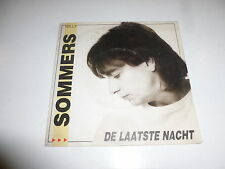 "WILLY SOMMERS - De Laatste Nacht - Belgium 1988 2-track 7"" Juke Box Vinyl Single"