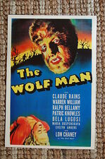 The Wolf Man Lobby Card Movie Poster Bela Lugosi Claude Rains