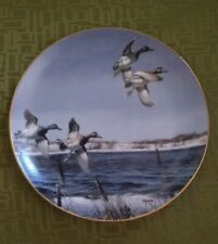 """Danbury Mint 8"""" Plate The New Arrivals by David Maass """"On the Wing"""" Collection"""