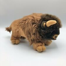 "Buffalo Bison 12"" Plush National Geographic Society 1997 Realistic Vintage"