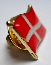 Denmark Dannebrog Flag Lapel Pin Badge High Quality Gloss Enamel