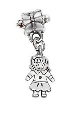 Little Girl Granddaughter Daughter Doll Dangle Charm for European Bead Bracelets